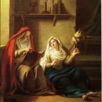 Coypel, Antoine ~ Saint Piamun and her Mother in an Egyptian Village