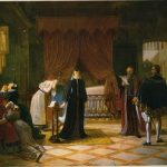 Vermay, Jean-Baptiste ~ Mary Queen of Scots receiving her death sentence