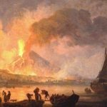 Volaire, Pierre-Jacques ~ The Eruption Of Vesuvius At Night, Seen From Below The Ponte Della Maddalena